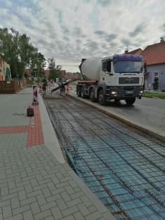 Výstavba autobusové zastávky